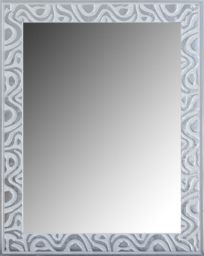 Espejo decorativo pared 0002 blanco-plata 96 x 75
